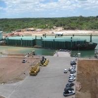 Cais para barcaças - Obras Portuárias Belov