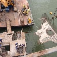 Dolfin para navios em construção - Obras Portuárias Belov