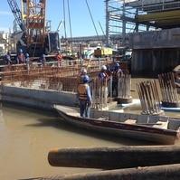 Construção de dolfins para navios - Obras Portuárias Belov