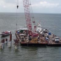 Logística operacional pesada - Obras Portuárias Belov