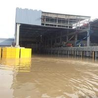 Cais com conteção em pranchas - obra pronta - Obras Portuárias Belov