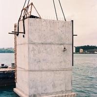 Caixão flutuante para atracadouro - Obras Portuárias Belov