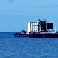 Lançamento de Cabos de Fibra Óptica - Obras Civis Subaquáticas Belov