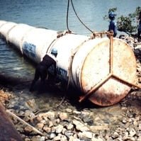 Instalação de Emissário Submarino em Concreto - Obras Civis Subaquáticas Belov
