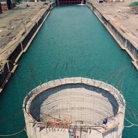 Execução de dolfin em caixão flutuante para navios - Obras Portuárias Belov
