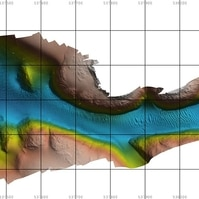 Superficie batimétrica 2D de alta qualidade - Serviços Hidrográficos Belov