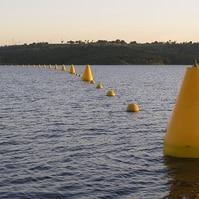 Boia de Sinalização para Barragens Instaladas - Sinalização Náutica Belov