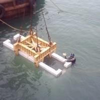 Montagem de pré-moldado com mergulhador - Belov