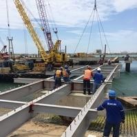 Ponte de acesso - Obra NFX