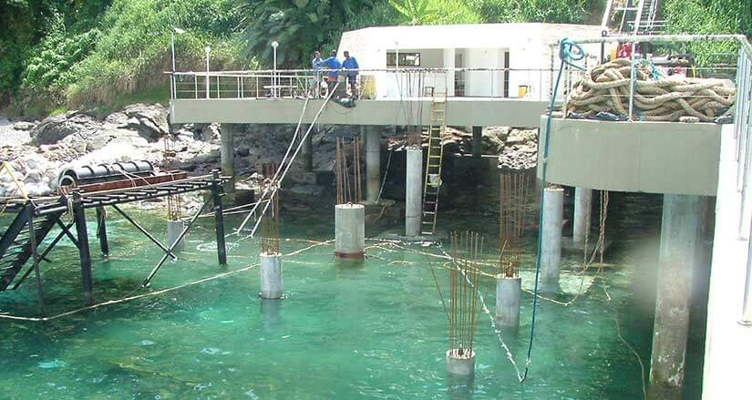 Pre-Packed or Underwater Concrete Structures